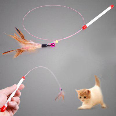Feather Interactive Wand Teaser for Cats 3pcs