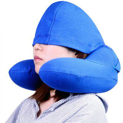 Tuban U-Shaped Inflatable Pillow with Hat Travel Accessories with Cap For Men Women Travel