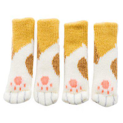 Cartoon Chair Leg Socks Non-slip Floor Protector Furniture Feet Cover 4PCS