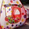 Portable Puzzle Tunnel Play Tent Toy for Kids 3pcs - RED