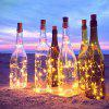 Lámpara YWXLight Solar Power Light String Wine Bottle 4pcs - BLANCO CáLIDO
