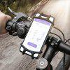 Floveme Bicycle Silica Gel Zipper Mobile Phone Shockproof Bracket - BLACK