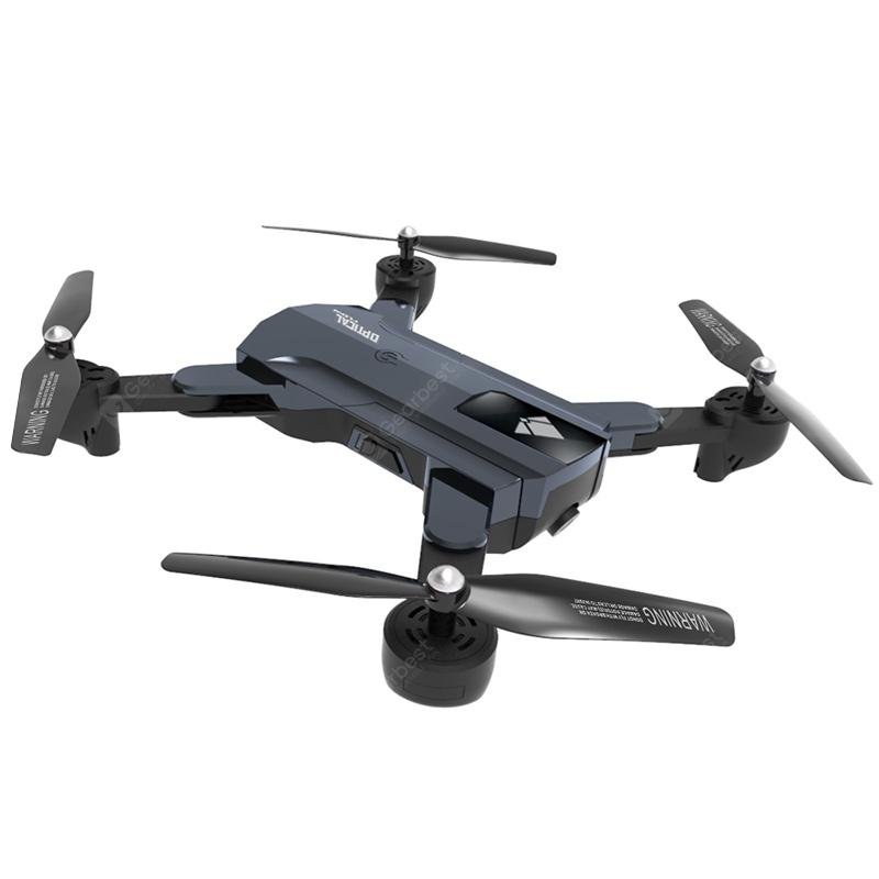 F196 WiFi PFV RC Drone Quadcopter 2MP HD Camera Optical Flow Altitude Hold - CARBON GRAY F196 720P WIFI