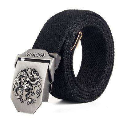 Fashion Classic Alloy Ratchet Stripe Weave Belt