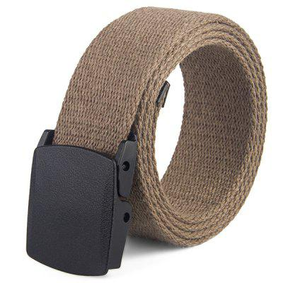 Leisure Canvas Braided Belt without Metal Buckle