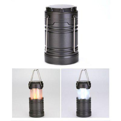 Flame Light Portable Telescopic Outdoor Lantern LED