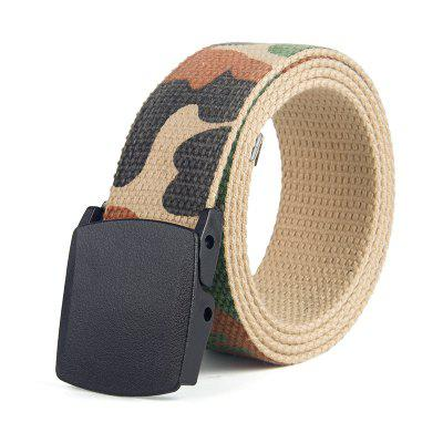 Classic Camouflage Smooth Bucket Weave Belt