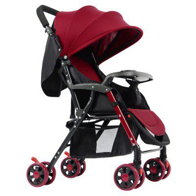 GIFT Lightweight Foldable Four-wheeled Baby Stroller