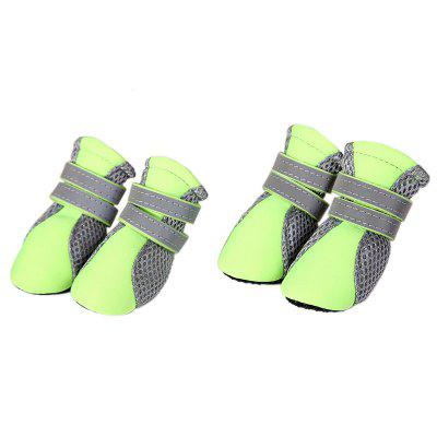 Anti-skid Pet Mesh Shoes 4pcs / Set