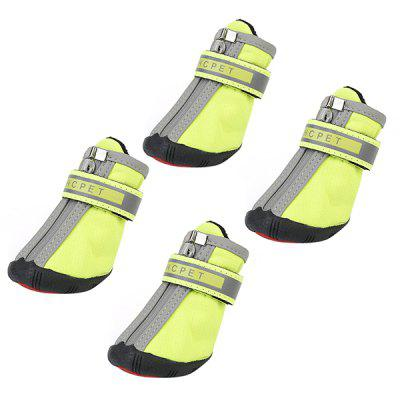 HCPE Anti-skid Durable Pet Shoes 4pcs / Set