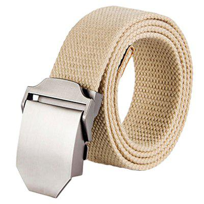 Canvas Belt with Automatic Buckle for Men
