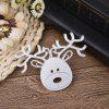 DIY Elk Design Stencil Embossed Plate Carbon Steel Cutting Die - SILVER