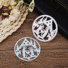 Christmas Pattern Metal Stencil Mould DIY Carbon Steel Cutting Die - SILVER