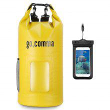 Gocomma 20L Waterproof Kayaking Dry Sack with Premium Phone Pouch (Yellow)