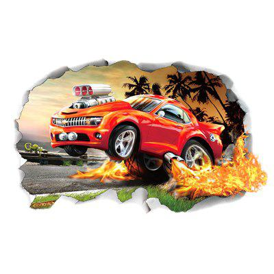 3D DIY Off-road Vehicle Car PVC Wallpaper Sticker Removable Room Decoration Decal