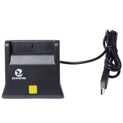 Zoweetek ZW - 12026 - 3 EMV USB Smart Card Reader Writer DOD Military USB Common Access CAC Smart Card Reader ISO7816 картридж для струйных аппаратов brother lc3617y желтый для mfc j3530dw j3930dw 550стр lc3617y