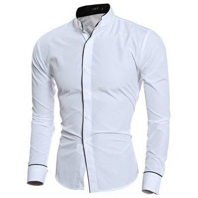 Fashionable Men Stand Collar Shirt