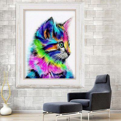 DIY Cat Diamond Painting Resin Stitch Needlework for Home Decoration