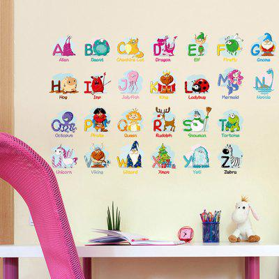 DIY Letter Pattern PVC Wallpaper Sticker Removable Room Decoration Decal