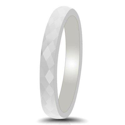 Chic Unisex Diamonds Section Ceramic Ring