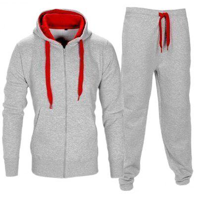 Fashion Long Sleeve Hoodie Pants Set