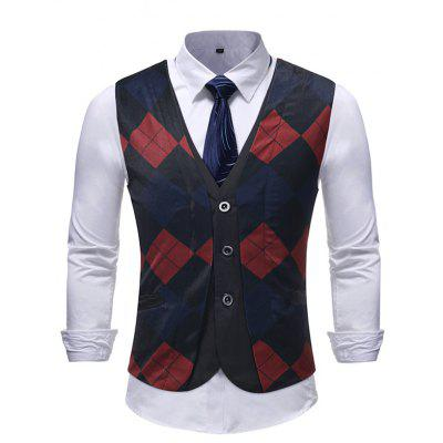 False Two-piece Casual Men's Suit Waistcoat for Formal Wear Wedding