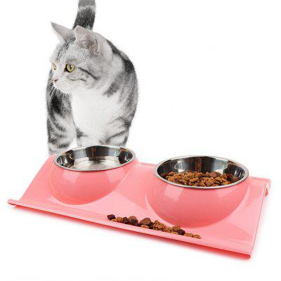 Stainless Steel + Silicone Pet Feeder