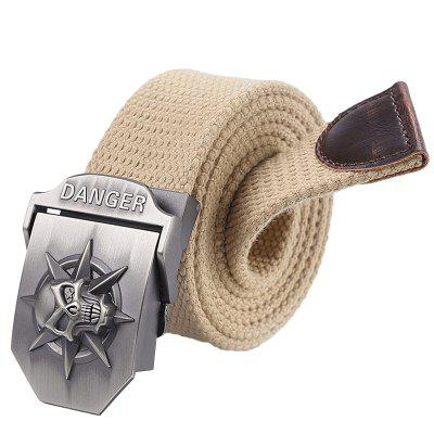 Fashion Thickened Canvas Belt with Automatic Buckle for Men