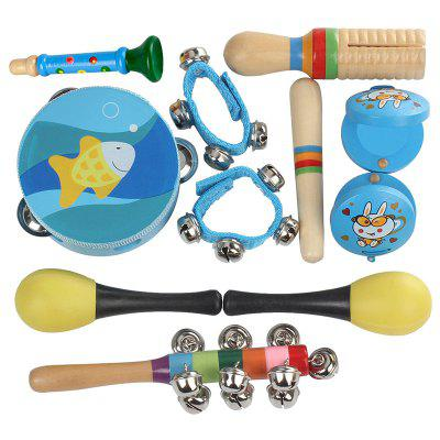 Percussion Musical Instrument Toy Kit for Kids Baby 11PCS
