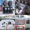 3 Gang LED Rocker Switch Painel Voltímetro Dual USB Slot Charger Car Marine Boat - AZUL