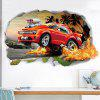 3D DIY Off-road Vehicle Car PVC Wallpaper Sticker Removable Room Decoration Decal - MULTI