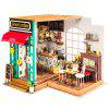 Robotime DIY Wooden Cabin 3D Jigsaw Puzzle Coffee House - MULTI