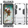 Luanke Armor Shockproof Rugged Soft TPU + Hard PC Protective Case with Kickstand for Xiaomi Mi A2 Lite - SILVER