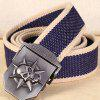 Fashion Thickened Canvas Belt with Automatic Buckle for Men - BLUE ORCHID