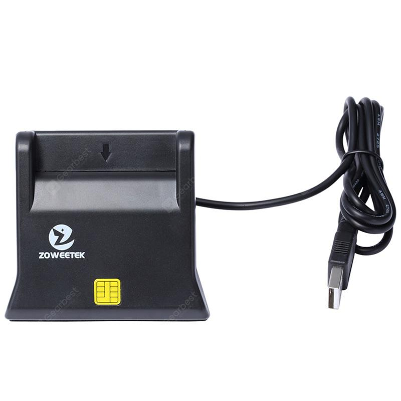 Zoweetek ZW - 12026 - 3 EMV USB Smart Card Reader Writer DOD Military USB Common Access CAC Smart Card Reader ISO7816