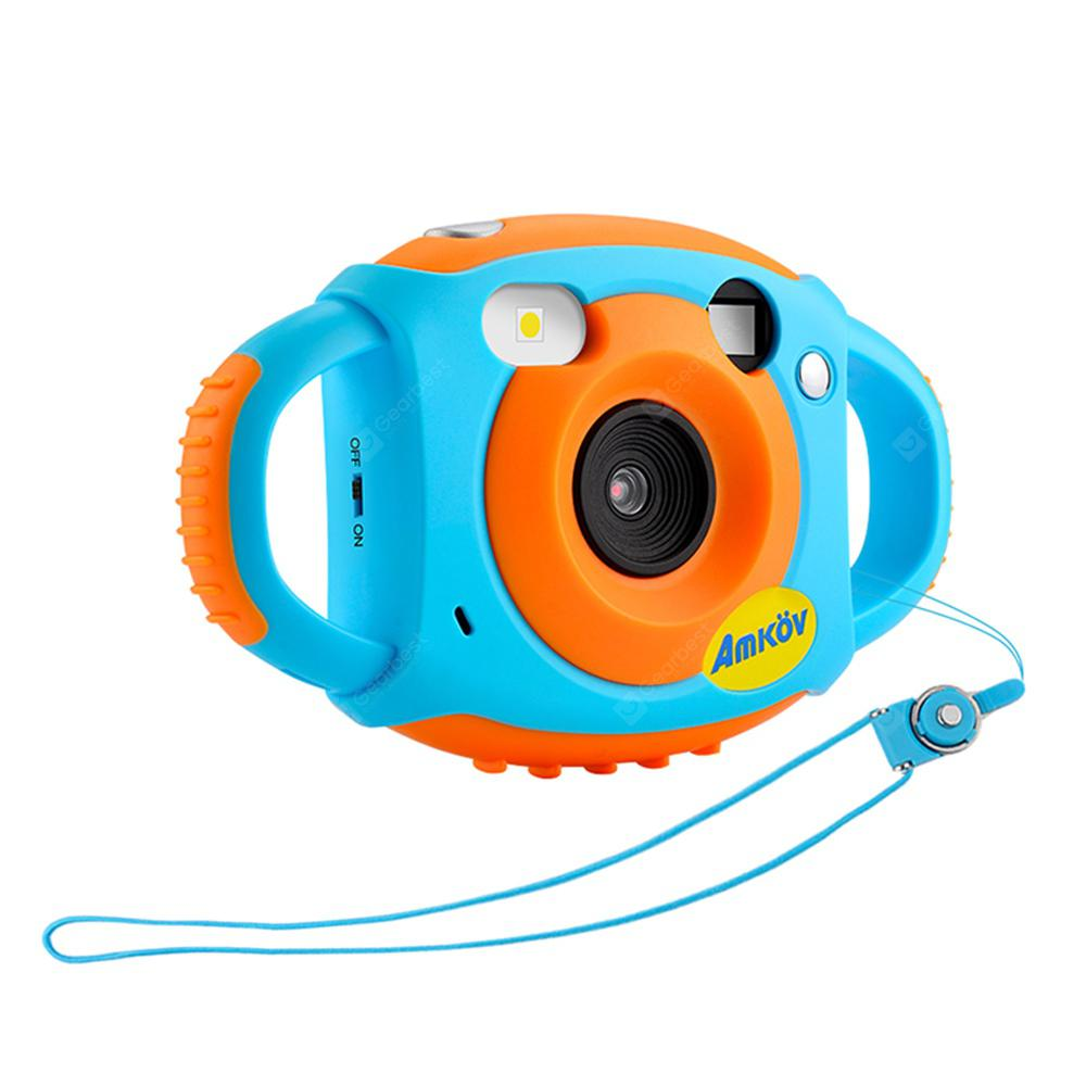 Amkov CD - FP+ 1.77 inch 5MP Mini Cute Kids Digital Camera - Dodger Blue