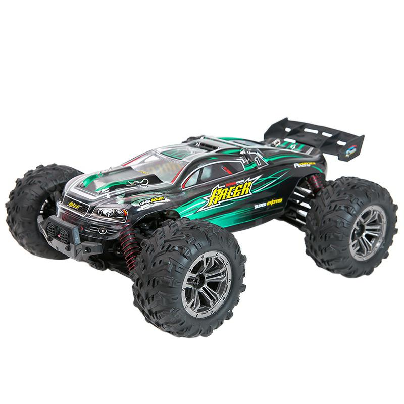 Xinlehong 9136 1/16 RC Car 2.4G 4WD 36km/h Bigfoot Off-road Truck RTR Toy - GREEN