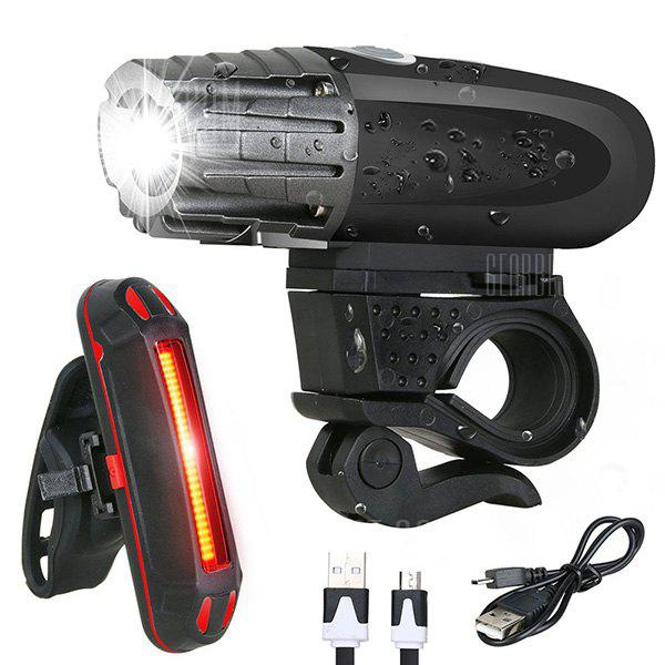 Utorch USB Rechargeable Headlight Rear Bicycle Light