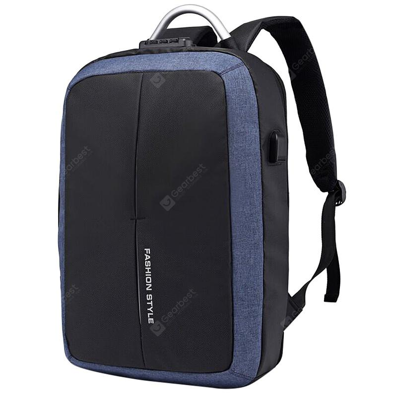 Portable Anti-theft USB Backpack Men Laptop Handbag