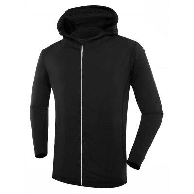 Slim Long Sleeve Sports Shirt with Hat for Men