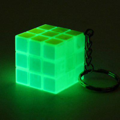 Fluorescent Light Mini Cube Key Chain for Kids