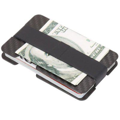 Simple Wallet Credit Card Holder Carbon Fiber Money Clip