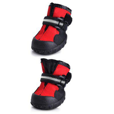 Stylish Anti-skidding Pet Raining Shoes 4pcs / Set