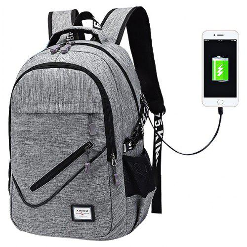 Leisure Large Capacity Computer USB Backpack for Business and Leisure