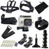 Outdoor Action Camera Accessories Kit for YI Sport Cameras - BLACK