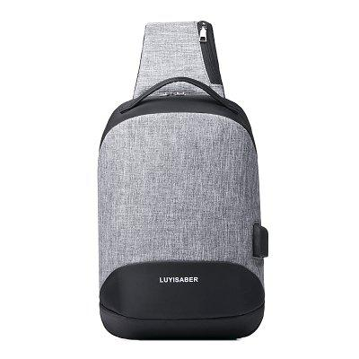 Leisure Outdoor Oxford Cloth Chest Bag with USB Port
