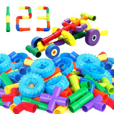 Plastic Pipe-Shaped Assembly Building Blocks Pipe Bending For Children Educational Puzzle Assembly Toys dolphin balance beam building blocks kids diy puzzle educational toy