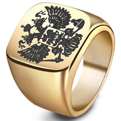 Stylish Double-headed Eagle Stainless Ring