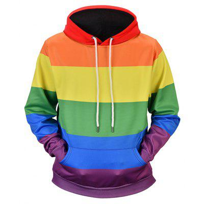 3D Fashion Rainbow Style Hoodie for Man