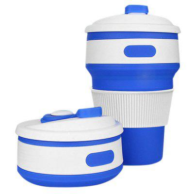 Outdoor Sports Portable Silicone 350ml Folding Cup